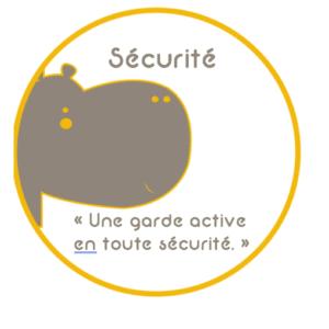 Badge Garde active en toute sécurité